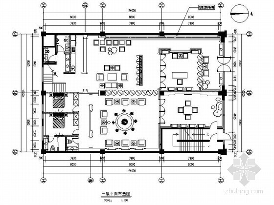 [海南]某中式奢华会所全套施工图(含效果)