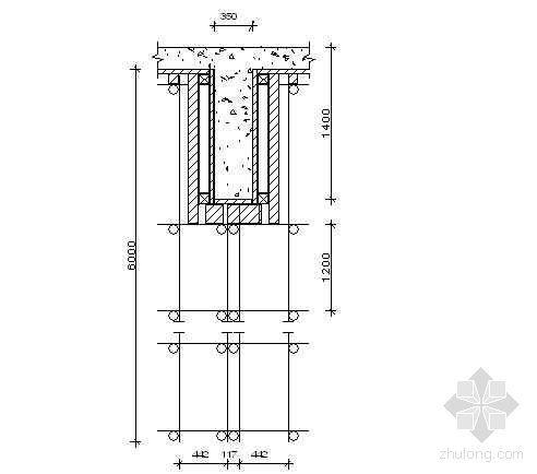 湖南某住宅楼梁模板扣件钢管高支撑架计算书