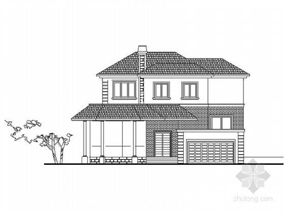 [杭州]某三层别墅建筑方案图(含效果图)