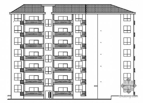 [武汉]某特殊转角七层住宅楼建筑施工图