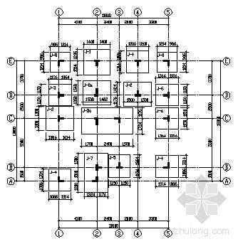 异形柱框架别墅结构图
