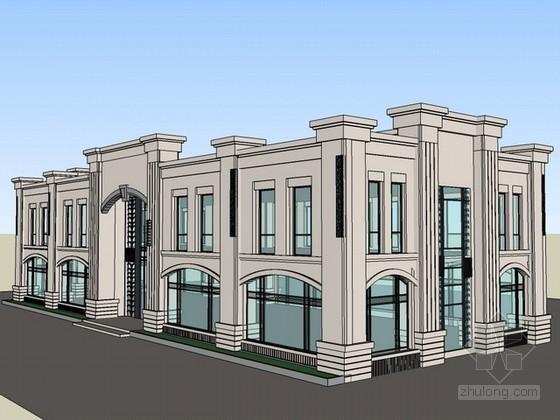 欧式风格售楼部sketchup模型下载