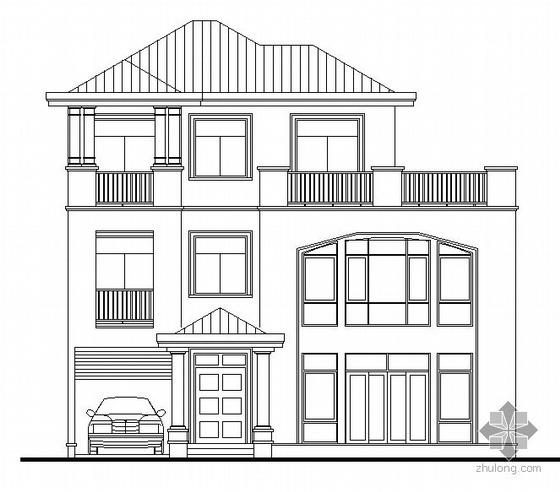 [东莞市]某豪园三期别墅区(A6型别墅)建筑结构水电施工图(含节能