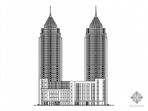 某二十八层公寓式住宅楼建筑施工图含效果图