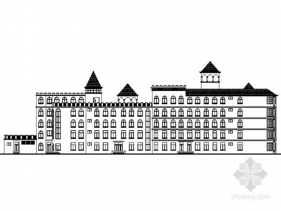 [陕西]某六层城堡幼儿园建筑施工图