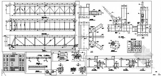 某钢结构连廊节点构造详图