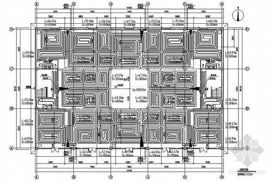 某展厅采暖施工图