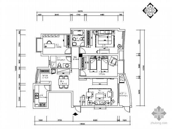 [无锡]三室两厅装修方案图(含效果图)