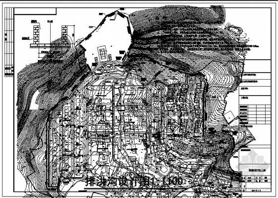 某住宅小区截洪沟设计图