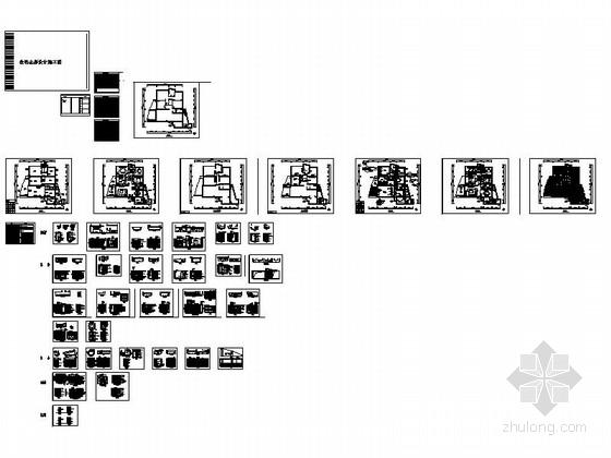 [湖南]温馨现代130平四居室室内装修施工图缩略图