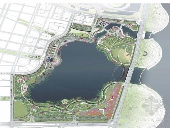 [深圳]运动型城市滨湖公园景观设计方案