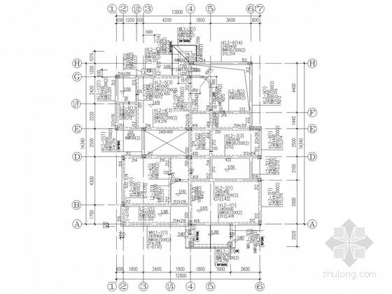 三层框架别墅结构施工图
