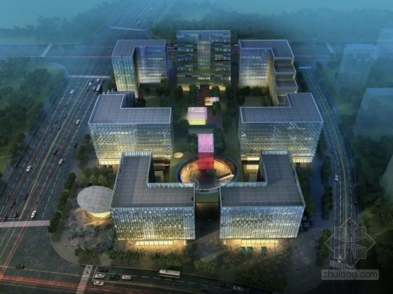 [上海]现代风格高层办公综合体建筑设计方案文本