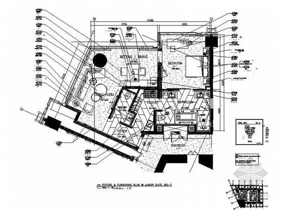 [江苏]无锡某豪华全球连锁酒店小套房深化施工图(含意向图)