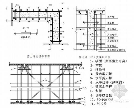 框架结构商业办公楼工程模板专项施工方案(95页)