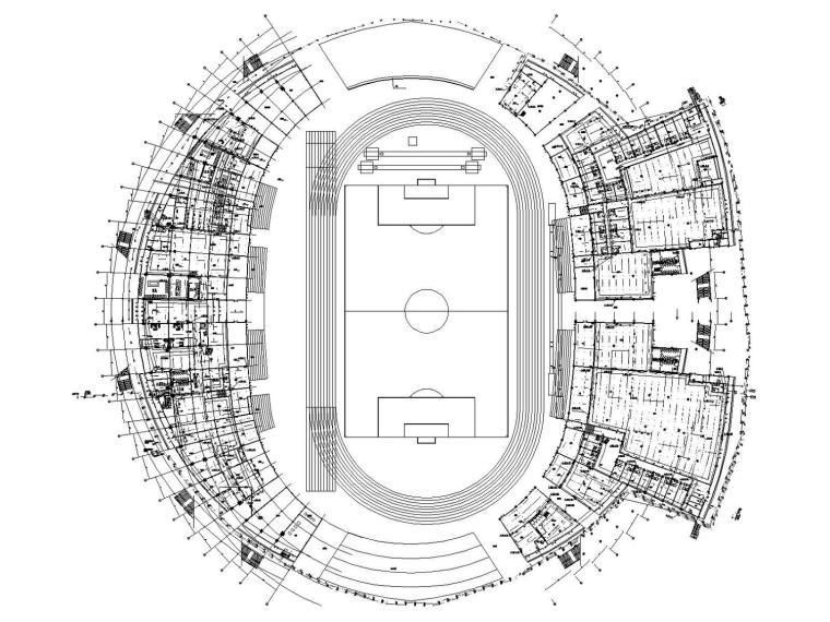 [呼和浩特]大型足球体育馆给排水消防太阳能系统施工图(含泵房)