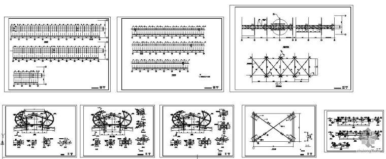 某1800天窗钢结构详图