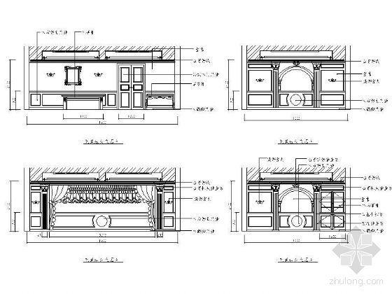 西餐包房立面设计图Ⅰ