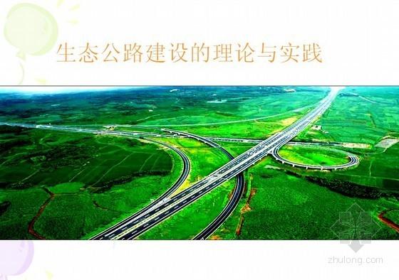 生态公路建设的理论与实践(交通部)