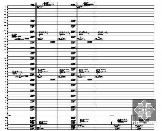 [上海]大型综合商业办公楼暖通空调全套施工图-加压送风原理图