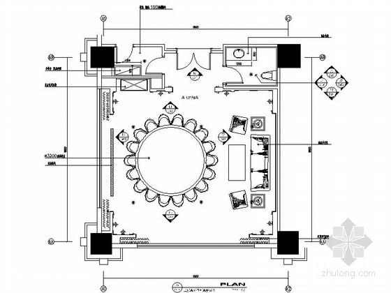 [昆山]五星级商务酒店包厢室内装修施工图(含效果)