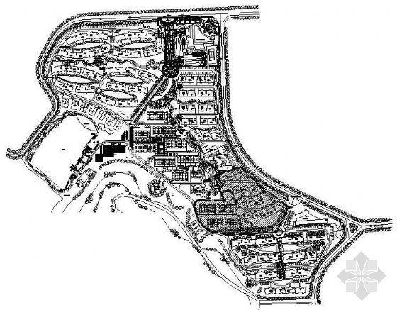 南京别墅区一期工程全套景观设计施工图