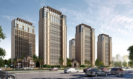 [福建]新中式风格住宅小区规划设计方案文本(含PSDCAD知名设计院)-新中式风格住宅小区效果图