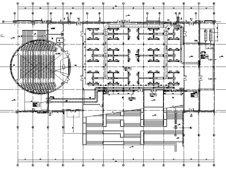长江大学石油科技中心暖通系统工程施工图