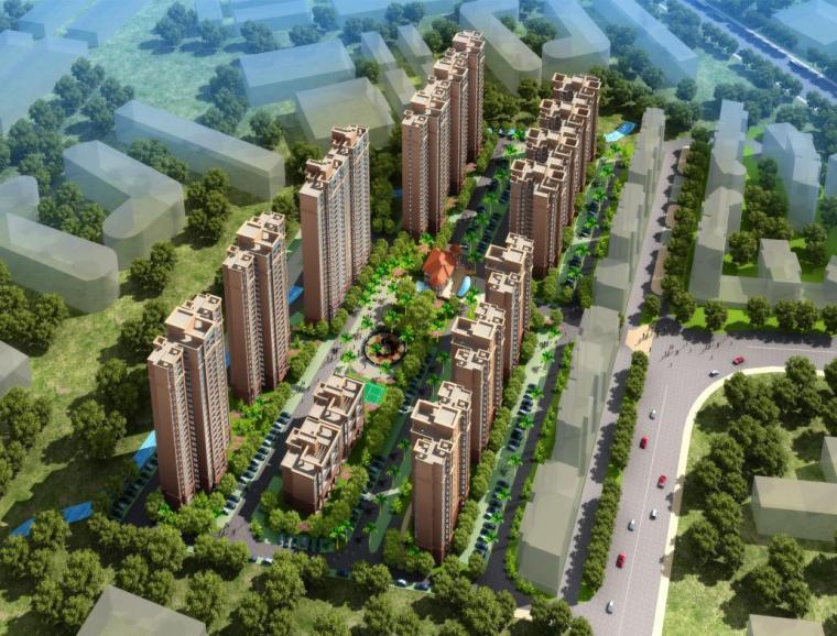 [广东]简约欧式风格塔式住宅楼建筑设计方案文本(含多张CAD)