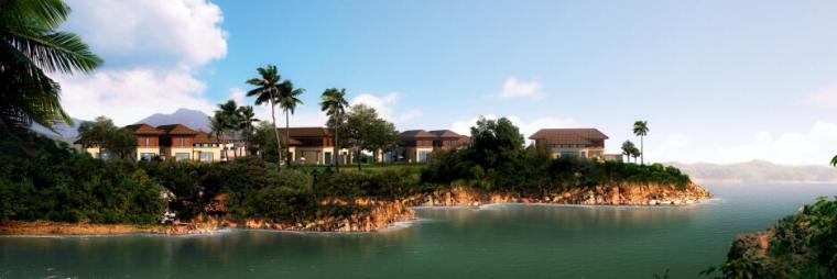 [浙江]水上度假村景观规划设计方案-景观住宅效果图