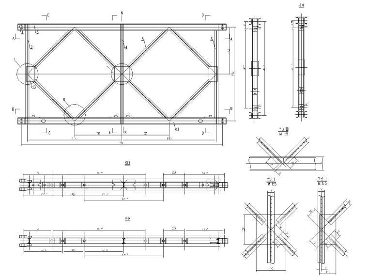 装配式公路钢桥标准施工图设计(贝雷架)