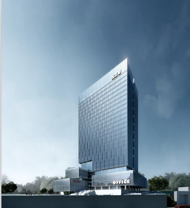 [广东]高层线条立面高档办公楼建筑设计方案文本