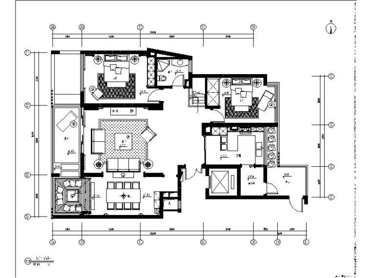 [浙江]新中式风格样板房室内设计施工图(含效果图)