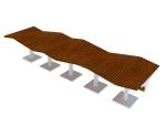 室外景观椅子3D模型下载