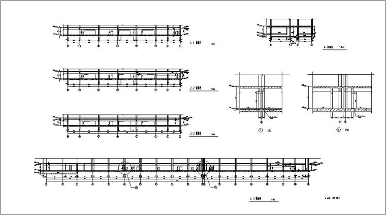 3套商住综合楼建筑设计施工图CAD-黄金海岸商住综合楼结构图