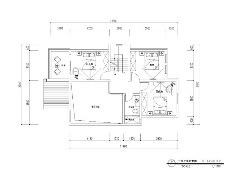 [福建]欧式风格罗生住宅室内设计施工图