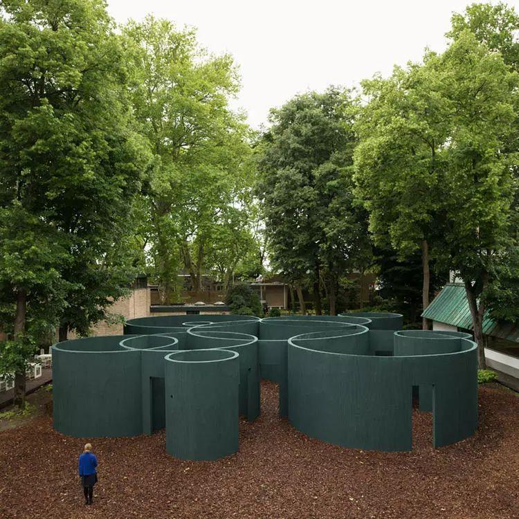这个智利建筑事务所设计房子,几乎像是一场方形、圆形或其他元素_25