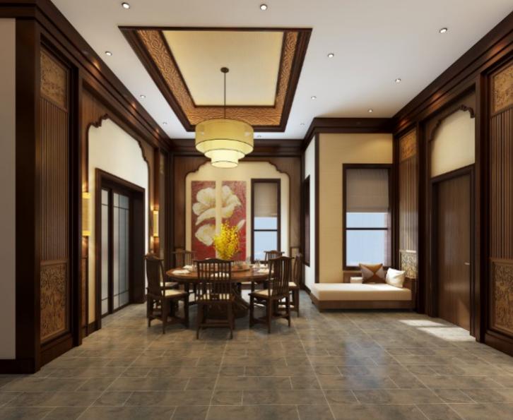 某三层别墅住宅室内设计施工图(含效果图).-门厅效果图