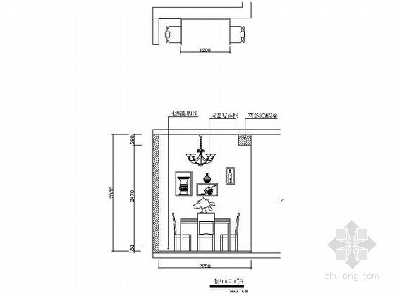 [常德]花园洋房现代简约两居室设计装修图(含效果)餐厅立面图