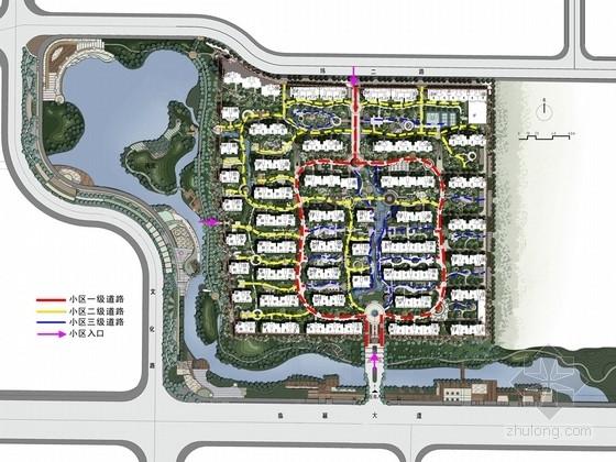 [河南]山水高档小区景观规划设计方案