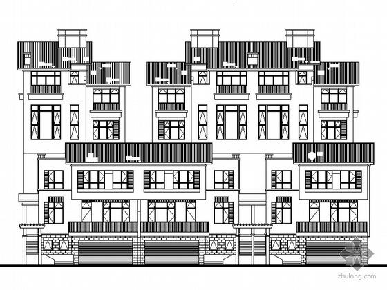 [南京]某海岸项目叠院拼接型别墅建筑施工图(D1、D5、D6、D7型)
