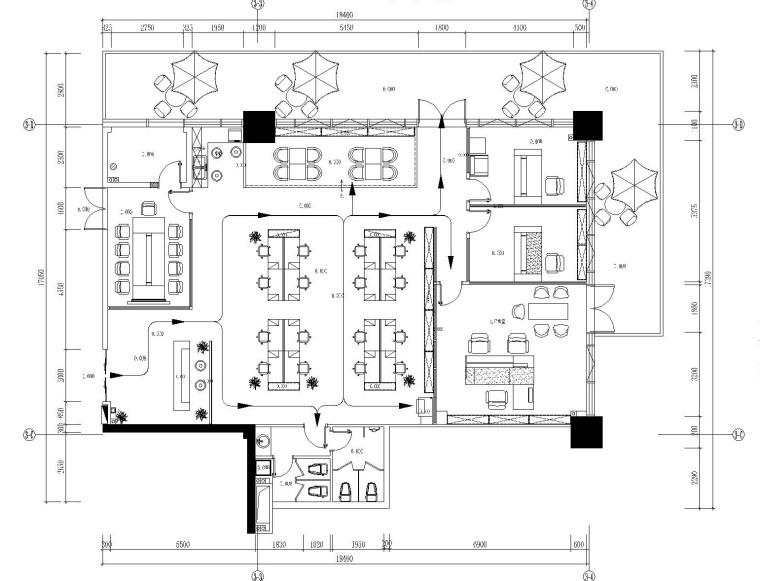 [广东]东莞市德高装饰有限公司办公室装修施工图(附高清效果图)