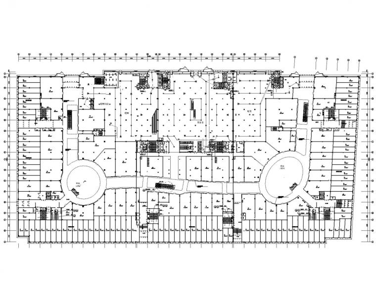 [内蒙古]知名大型商业综合体(步行街、百货)电气全套施工图