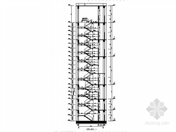 [深圳]56层玻璃幕墙办公大厦建筑设计施工图(含效果图知名设计院)-56层玻璃幕墙办公大厦建筑局部节点图