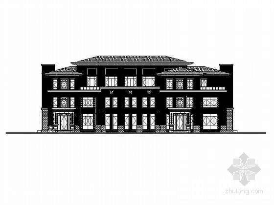 [福建]三层新中式风格高档别墅建筑施工图(含效果图 结构水电施工图)