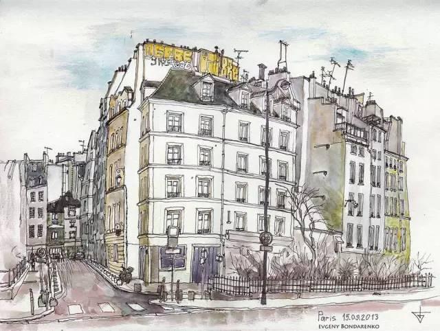 建筑手绘,国外设计师画的就是好看!_26