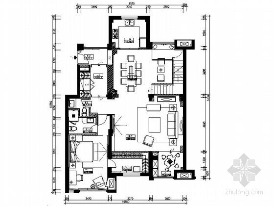 [原创]宁波洋气高档简欧两层别墅室内施工图