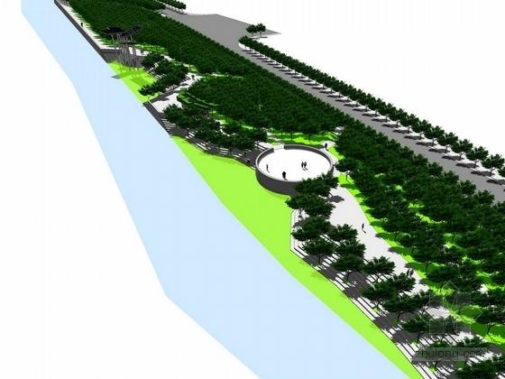 [广州]客家文化主题滨水带状公园景观设计方案(北京著名景观公司)