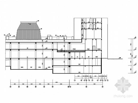 附建式地下四层地下室建筑结构全套图