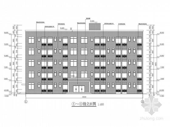 六层框架中学新建宿舍楼结构施工图(含建施)